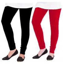 LEGGINGS FOR WOMEN'S COMBO (FREE SIZE_PACK OF 2)